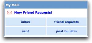 Posting MySpace Bulletins.